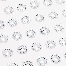 CraftbuddyUS 50pcs 9X20mm Sew On Acrylic Horse Eye Silver Set Clear Montees DIY