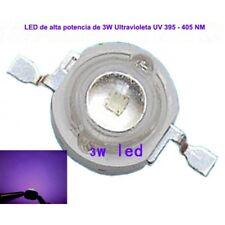5 x LED de alta potencia Ultravioleta de 3W UV 395 - 400NM