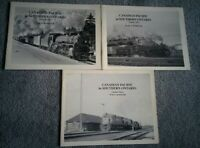 CANADIAN PACIFIC in Southern Ontario COMPLETE 3 Volume Set ROSSITER B&W SC Book