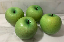 Set of 4 Glass Green Apples~ Realistic~ Urban Farmhouse~ EUC