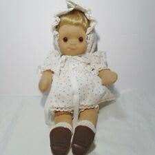 "Vintage 14"" tagged Stupsi Pose-able Cloth Girl Dolll - made in Western Germany"