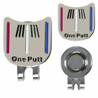 "MAGNETIC HAT CLIP with ""One Putt"" GOLF BALL MARKER  New Sale O4F5"