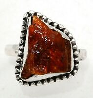 Natural Orange Kyanite 925 Solid Sterling Silver Ring Jewelry Sz 8, ED16-8