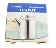 SUNNEX STAINLESS STEEL TEA POT FOR INDIAN CHI TEA CONTAINER NEW CLASSIC