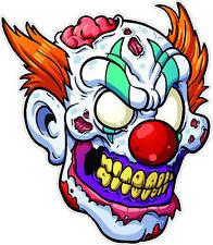 "#173 4"" Evil Psycho Zombie Clown skull Knife Decal Motorcycle Laptop Skateboard"
