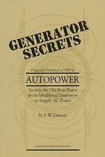 Generator Secrets, Autopower Generator Conversion & Modification by S.W. Duncan