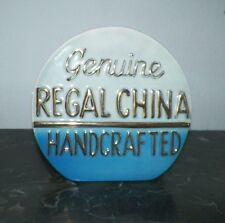 VINTAGE GENUINE REGAL CHINA POTTERY ADVERTISING DISPLAY PLAQUE
