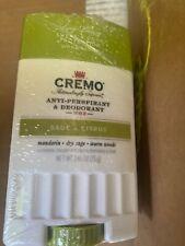 Cremo SAGE & CITRUS Anti-Perspirant & Deodorant Invisible Finish NEW 2.65oz 1/22
