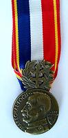 Médaille de la délégation Lafayette FOCH Metz Août 1920 avec ruban - Refrappe