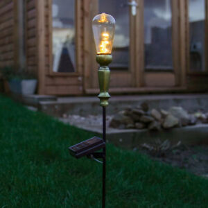 80cm Solar Power Outdoor Vintage Style Festoon Stake with Wire Lights | Assorted