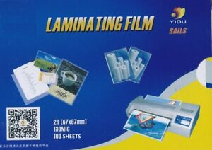 3 x Badge Card Laminating Pouches 130 Micron 67x97mm (3 Pack of 100 Pouches)