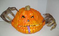 RARE CUSTOM OOAK 1998 TRENDMASTERS,INC  Motion Activated Scary Pumpkin