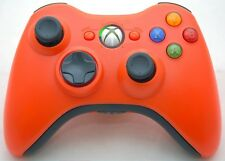 Microsoft XBox 360 Orange/Black Wireless OEM Video Game Controller cordless HOT
