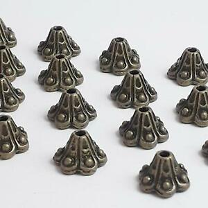 20pcs Cone Bell Flower Bead Caps Antique Bronze 10x5mm - B14475