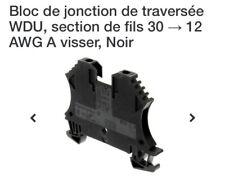 Bloc jonction de traversée WDU, section de fils 30 → 12 AWG A visser, Noir (x10)