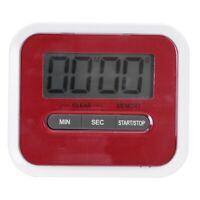 LCD Kurzzeitmesser Magnetisch Kuechenwecker Timer Stoppuhr Rote E5A1