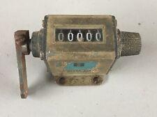 Vintage VEEDER-ROOT Mechanical counter 5 Digit Resettable Hartford, CT
