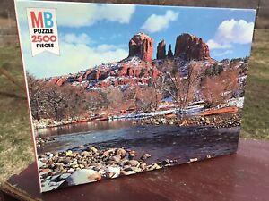 MB Puzzle 2500 Pieces Red Rock Crossing Arizona Vintage