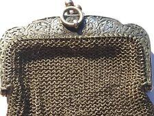 ANCIENNE BOURSE - PORTE MONNAIE de BAL EN ARGENT MASSIF - 59 grammes