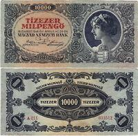Ungarn Banknote 10.000 Milpengő 1946 Budapest Magyar Nemzeti Bank P-126 SELTEN