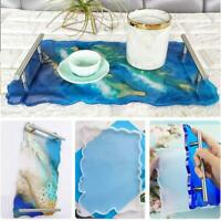 Large Resin Tray Silicone Mold Plate Dish Mould DIY Epoxy Casting Craft Kit