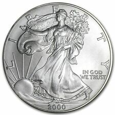 2000 Us Mint $1 American Silver Eagle 1 oz Silver Coin Direct From Mint Tube