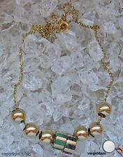 Smaragdcollier Safircollier 8 Kt 333er Gold mit Smaragde Safire Saphire