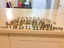 Lot Of 100 Vintage   Lead Britains Knights Soldiers and cowboy with animals  Etc