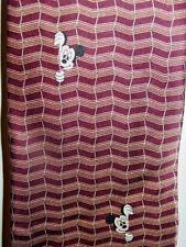 Walt Disney World Men's tie brown chevron striped Mickey Mouse 100% silk