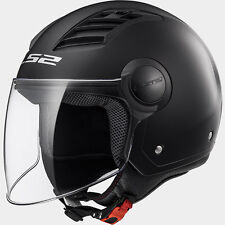 CASCO OF562 LS2 AIRFLOW L GLOSS SOLID MATT BLACK NERO MOTO/SCOOTER OMOLOGATO