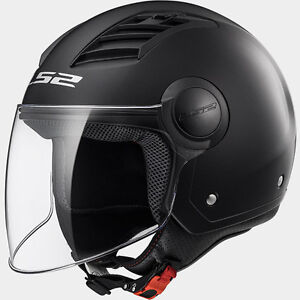 CASCO LS2 AIRFLOW L GLOSS SOLID MATT BLACK MOTO/SCOOTER OMOLOGATO