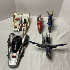 Vintage Mighty Morphin Power Rangers - Lot Of 3 Motorcycles and 2 Cars