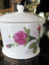 Ceramic Stamp Dispenser White with Roses Gift Co