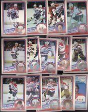 1984 OPC Team SET lot of 14 Washington CAPITALS NM/MT o-pee-chee STEVENS Rod