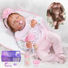 "22"" Real Lifelike Reborn Baby Dolls Full Body Vinyl Silicone Newborn Girl Doll"