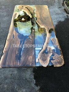 Olive Wood Table Epoxy Table, Resort, Office Furniture ,Resin Table, Walnut Arts
