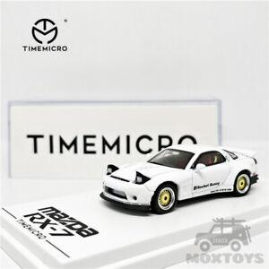TimeMicro 1:64 Mazda RX-7 Pandem Rocket Bunny White Car