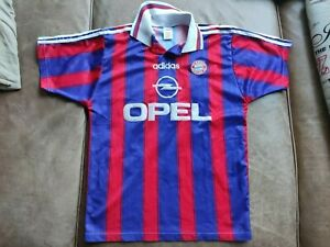 altes Trikot FC Bayern München Retro vintage 19 Klinsmann mit Opel Sponsor Gr S