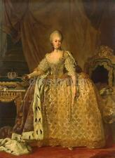 Portrait of Queen Sophie Sophia Magdalene of Denmark, Pasch Print 7x5 Inches