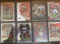 2020 Panini Mosaic Football Clyde Edwards-Helaire Blue Reactive Prizm RC +LOT