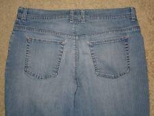 Gloria Vanderbilt Size 14 S Tapered Leg Stretch Light Blue Denim Jean Womens