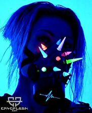 Cryoflesh Spike LED SC Goth Industrial EDM EMO Rave Cyber Gas Mask