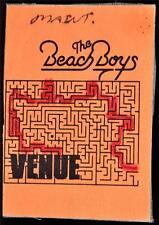 Authentic Backstage Pass 1980s Beach Boys Maintenance Concert Tour Ticket