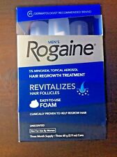 Men's Rogaine Easy To Use Foam 3 Month Supply NEW