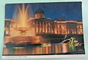 NATIONAL GALLERY BY NIGHT LONDON PHOTO E.LUDWIG,JOHN HINDE PICTURE POSTCARD