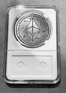 Ethereum Challenge Coin, Laser Engraved, custom made, ETHCoin, ETH, crypto