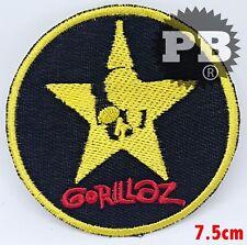 #2026 New Gorillaz Embroidered Iron On Neon round black Skull Logo Badge Patch
