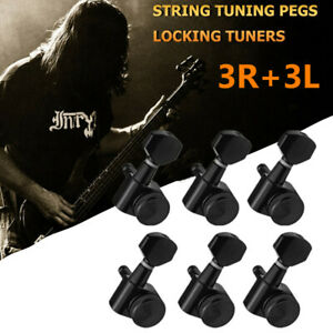 6PCS Tuning Pegs Keys Locking Tuner Heads 3R 3L For Electric Wooden Guitar Parts
