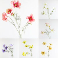 Artifical Real Touch Silk Cosmos Flowers Bouquet Wedding Party Bridal Home Decor