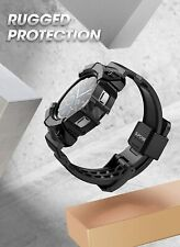 For Samsung Galaxy Watch 4 (46mm) SUPCASE UBPro Bumper Strap Rugged Watch Band